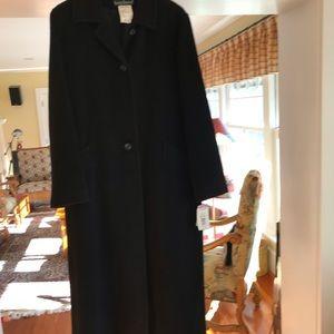 NWT Harve Benard long, black coat